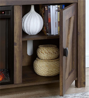 Electric Fireplace TV Console Shelves with Storage Space