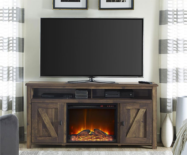 Answers About the Rustic Barnwood Electric Fireplace: Does it Heat Well? Do the Flames Look Real? Is the Fan Quiet? Can You Plug it In?...