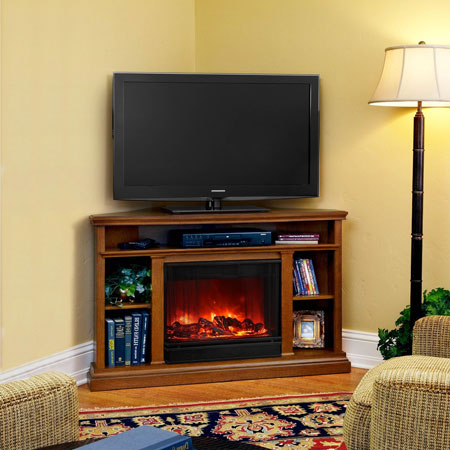 top 5 corner electric fireplace tv stands under 500. Black Bedroom Furniture Sets. Home Design Ideas