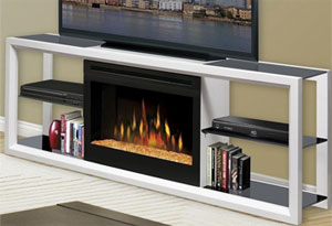 Dimplex Novara White Fireplace Tv Console