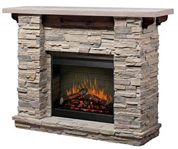 Featherston Stacked Stone Electric Fireplace