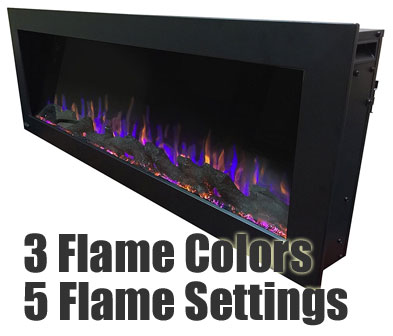 Flame Colors and Settings on Outdoor Electric Fireplace