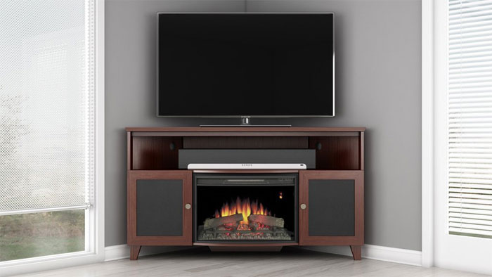 60-inch Corner TV Stand... with Fireplace?