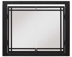 Glass Fireplace Doors for the Dimplex Revillusion Electric Fireplace 36""