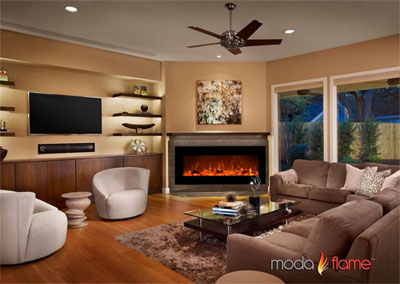 Moda Flame Houston Electric Wall Fireplace