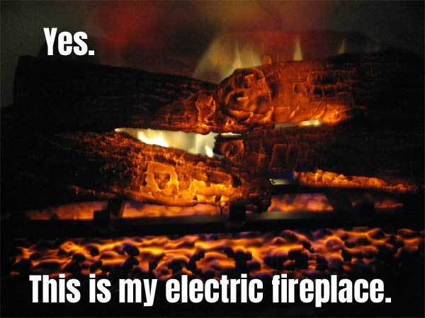 Photo of the Realistic Flames, Logs and Embers  in My Dimplex Electric Fireplace