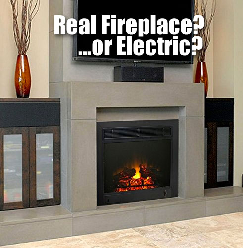 Paramount Electric Fireplace Insert Looks Like a Real Built-in Fireplace