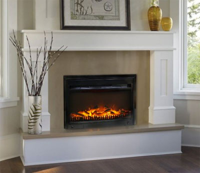 Paramount Electric Fireplace Insert in Living Room - How Much Does It Cost To Run An Electric Fireplace? It Costs...