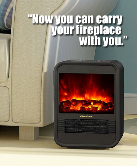 "Here are the Reasons Why People Buy the PuraFlame Clara Portable Electric Heater and How it Compares to Other ""Mini Fireplaces""."