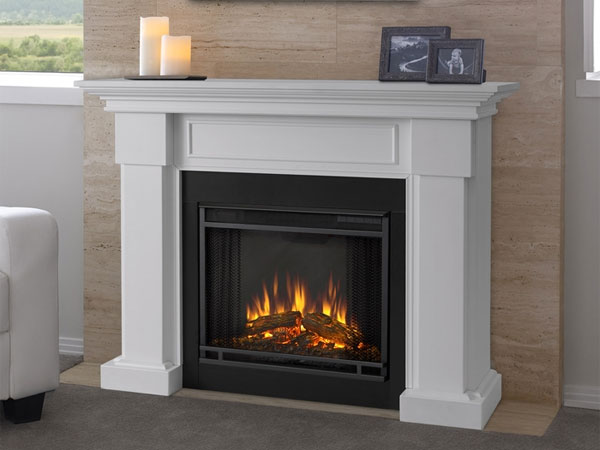 Real Flame White Electric Fireplace, Hillcrest Model
