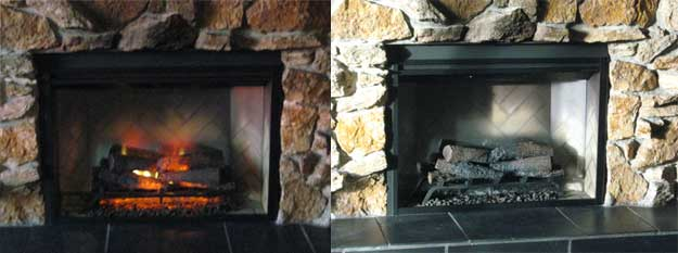 Dimplex Revillusion Electric Fireplace Insert - With Flames and Without