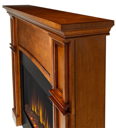 Slim Line Electric Fireplace Side View
