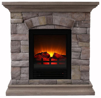 Small Stone Electric Firepace